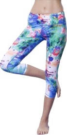 La Zoya Floral Print Women's, Girl's Ankle length Tights