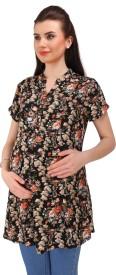 MomToBe Casual Short Sleeve Printed Women's Multicolor Top