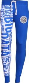 Avenster Sport Printed Men & Women Blue Track Pants