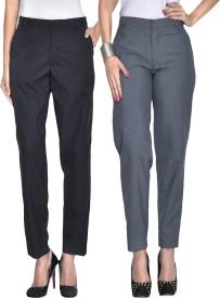 Iheart Slim Fit Women's Multicolor Trousers