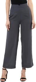 Sassafras Regular Fit Women's Grey Trousers