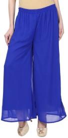 Sritika Regular Fit Women's Blue Trousers
