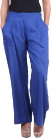 Jaipurkurti Regular Fit Women's Dark Blue Trousers