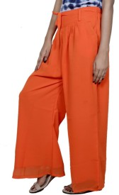 Tullis Regular Fit Women's Orange, Yellow Trousers