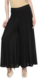 Sritika Regular Fit Women's Black Trousers