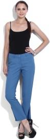 Vanheusen Regular Fit Women's Blue Trousers