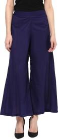 Kira Regular Fit Women's Blue Trousers