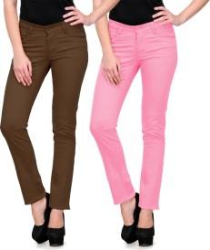 Fuego Slim Fit Women's Multicolor Trousers