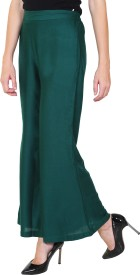 1To9 Regular Fit Women's Green Trousers