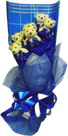 Bird In Blue Love Soap Flower HSFL004 Gift Set