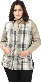 Eves Pret A Porter Checkered Women's Waistcoat