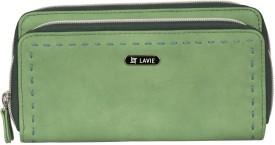 Lavie Women Green Artificial Leather Wallet(4 Card Slots)