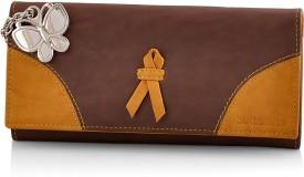 BUTTERFLIES Women Brown Artificial Leather Wallet(5 Card Slots)