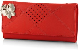 BUTTERFLIES Women Red Clutch
