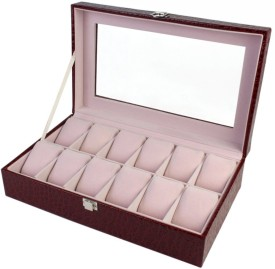 BlushBees 12 Slot Leather Watch Box