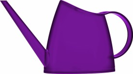 Shrih Purple Plastic Watering Can 1.5 L Water Cane