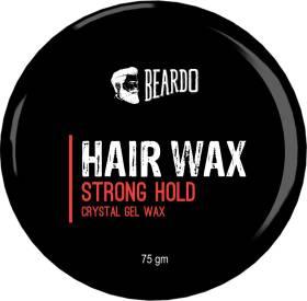 BEARDO Stronghold Hair Wax, 75 gm | Crystal Hair Wax for Men | Glossy Finish | Hair Style, Shine | Strong Hold Styling Hair Wax Hair Wax