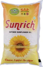 Sunrich Refined Sunflower Oil 1 L Pouch