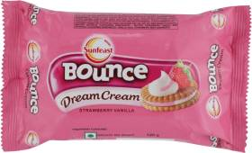 Sunfeast Bounce Dream Strawberry Vanilla Biscuit Cream Sandwich