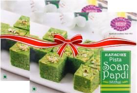 Karachi Bakery Pista Soan Papdi Mithai Box