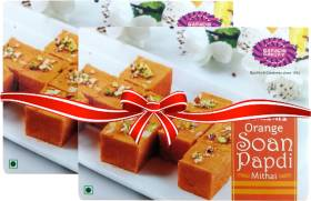Karachi Bakery Orange Soan Papdi Mithai Box