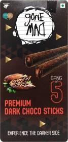 Gone Mad Gang of 5 Premium Dark Choco Wafer Rolls
