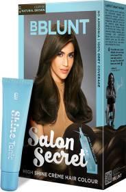 BBlunt Salon Secret High Shine Creme Hair Colour, 100g with Shine Tonic, 8ml , Natural Brown 4.31