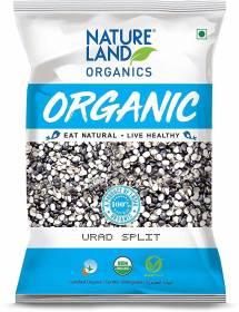 Natureland Organics Organic Black Urad Dal (Split)