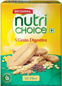 BRITANNIA NutriChoice 5 Grain High Fibre Multigrain Biscuits Digestive