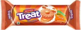 BRITANNIA Treat Orange Biscuits Cream Sandwich