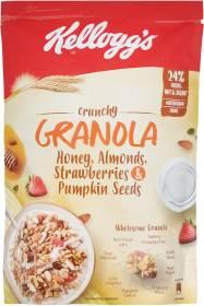 Kellogg Crunchy Granola Honey, Almonds, Strawberries & Pumpkin Seeds