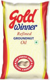 Gold Winner Refined Groundnut Oil Pouch
