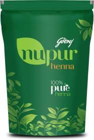Godrej Nupur 100% Pure Henna (Mehendi) - Natural Conditioning and Anti-Dandruff Hair Colour Solution (200g) , Leafy Green