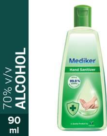 MEDIKER Instantly Kills 99.9% Germs Without Water Hand Sanitizer Bottle