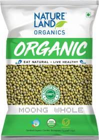 Natureland Organics Organic Green Moong Dal (Whole)