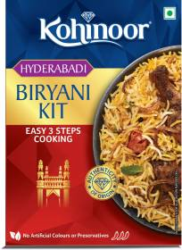 Kohinoor Authentic Hyderabadi Biryani Basmati Rice Kit 327 g