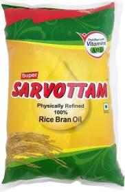 Super Sarvottam Physically refined Rice Bran Oil Pouch