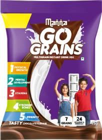 Manna Go Grain- Multigrain Instant Health Drink Mix Chocolate