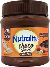 Nutralite Choco Spread Crunchy Quinoa  Hazelnut Spread Uses Premium Chocolate 275 g