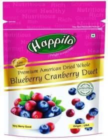 Happilo Premium American Dried Whole Duet Blueberry, Cranberries