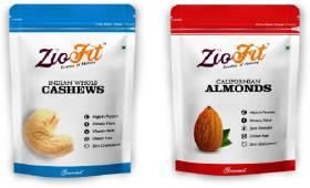 Ziofit Indian Whole Cashews + Free Californian Almonds Cashews