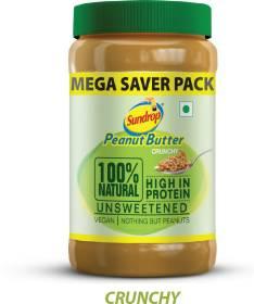 Sundrop Peanut Butter 100% Natural Crunchy 924 g