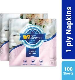 Flipkart Supermart Home Essentials 1 Ply White Napkins