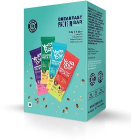 Yogabar Breakfast Protein Bars Variety Flavors Pack of 6