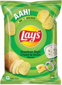 Pepsico Lay's Potato Chips American Style Cream & Onion Flavour Chips