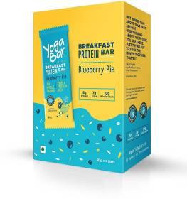 Yogabar Breakfast Protein Bar Blueberry Pie Pack of 6