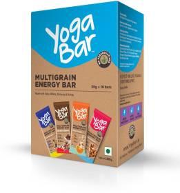 Yogabar Multigrain Energy Bars Variety Flavors Pack of 10