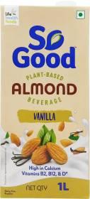 So good Almond Vanilla Plant Based Beverage 1000ml Tetra Pack