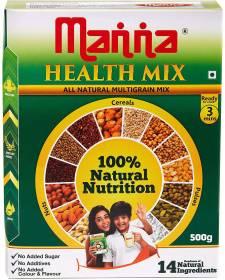 Manna Millet Health Mix 500g | Sathu Maavu for Babies | 100% Natural Millet Multigrain Nutrition Drink for Kids | 14 Natural Ingredients 500 g