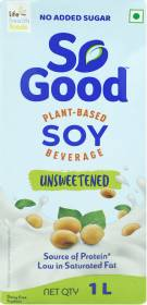 So good Soy Natural Unsweetened Plant Based Beverage 1000ml Tetra Pack